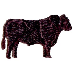 Black Angus Silhouette embroidery design