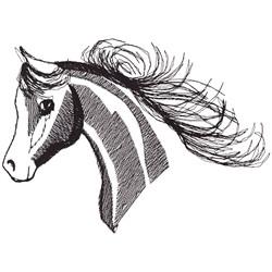 Arabian Head fi embroidery design