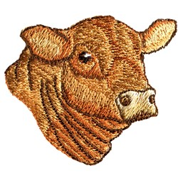 Angus Head embroidery design