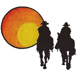 Riding Into Sunset embroidery design