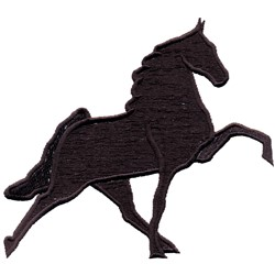 Walking Horse Silhouette embroidery design