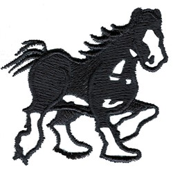 Clydesdale embroidery design