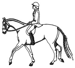 Hunt Rider embroidery design