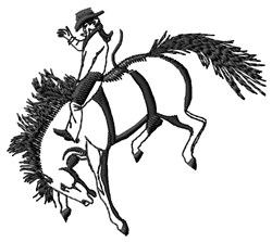 Bronc Buster embroidery design