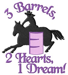 3 Barrels embroidery design