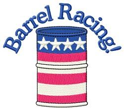 Barrel Racing embroidery design