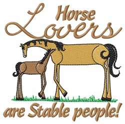 Horse Lovers embroidery design