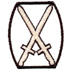 Crossed Swords embroidery design
