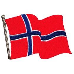 Norwegian Flag embroidery design