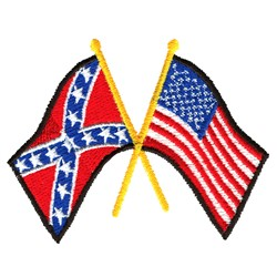 Confederate And American Flag embroidery design