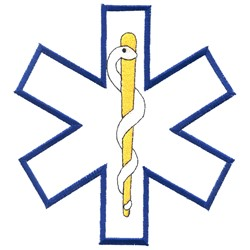 Star of Life Outline embroidery design