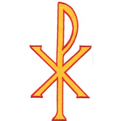 Christ Symbol embroidery design