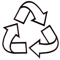 Recycle Symbol Outline embroidery design