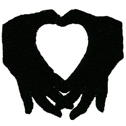 Heart Hands Silhouette embroidery design