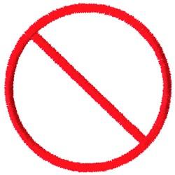 No Symbol embroidery design