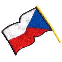 Czech Republic Flag embroidery design