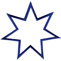 Seven Pointed Star embroidery design