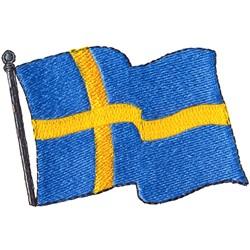 Swedish Flag embroidery design