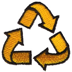 Recycling Arrows embroidery design