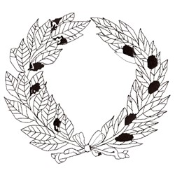 Wreath Outline embroidery design