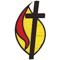 Applique Cross and Flame embroidery design