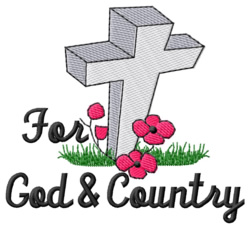 God & Country embroidery design