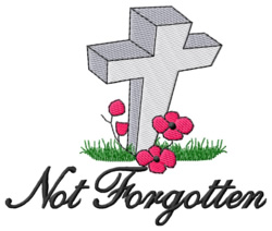 Not Forgotten embroidery design