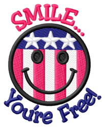 Youre Free! embroidery design