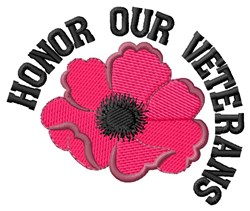 Honor Our Veterans embroidery design