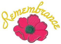 Remembrance embroidery design