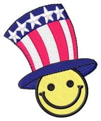 Patriot Smiley embroidery design