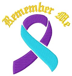 Remember Me embroidery design