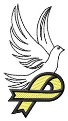 Suicide Prevention Dove embroidery design