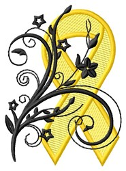 Floral Ribbon embroidery design