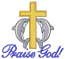 Praise God embroidery design
