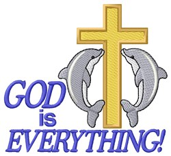 God is Everything embroidery design