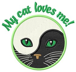 My Cat Loves Me embroidery design