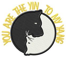 Yin Yang Dog Cat embroidery design