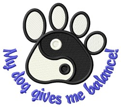 Dogs Are Balance Factors! embroidery design