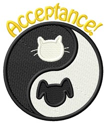 Acceptance! embroidery design