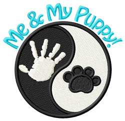 Me & My Puppy! embroidery design