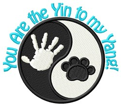 Yin To My Yang embroidery design