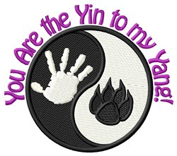Yin Yang Cat embroidery design