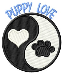 I Love You, Puppy embroidery design
