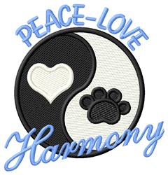 Peace Love (Dog) embroidery design