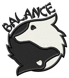 Balance embroidery design