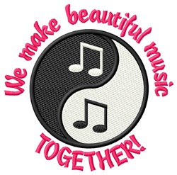 Make Music Together! embroidery design