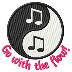 Go With The Flow! embroidery design