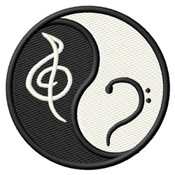 Treble & Bass Clefs embroidery design