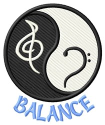 Balance embroidery design